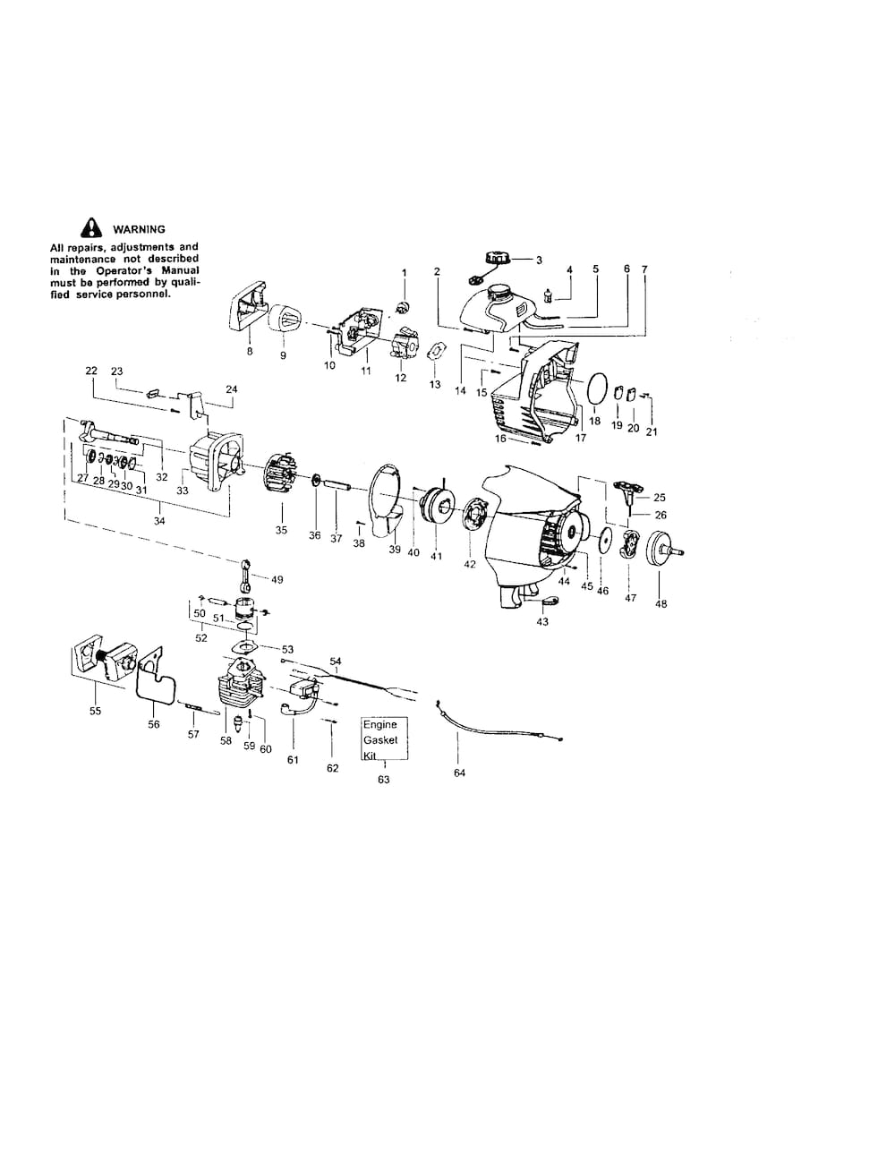 Craftsman Gas Line Trimmer/weedwacker Parts | Model 358795200 in Craftsman 32Cc Weed Wacker Parts Diagram