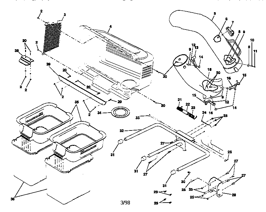 craftsman ltx 1000 parts diagram