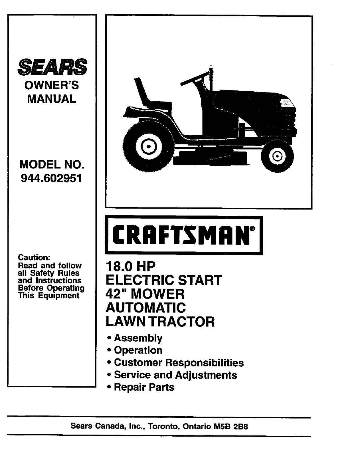 Craftsman Riding Lawn Mower Parts Diagram | Automotive ...