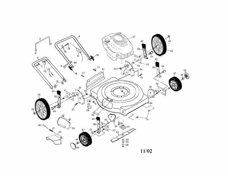 lawn mower engine parts diagram