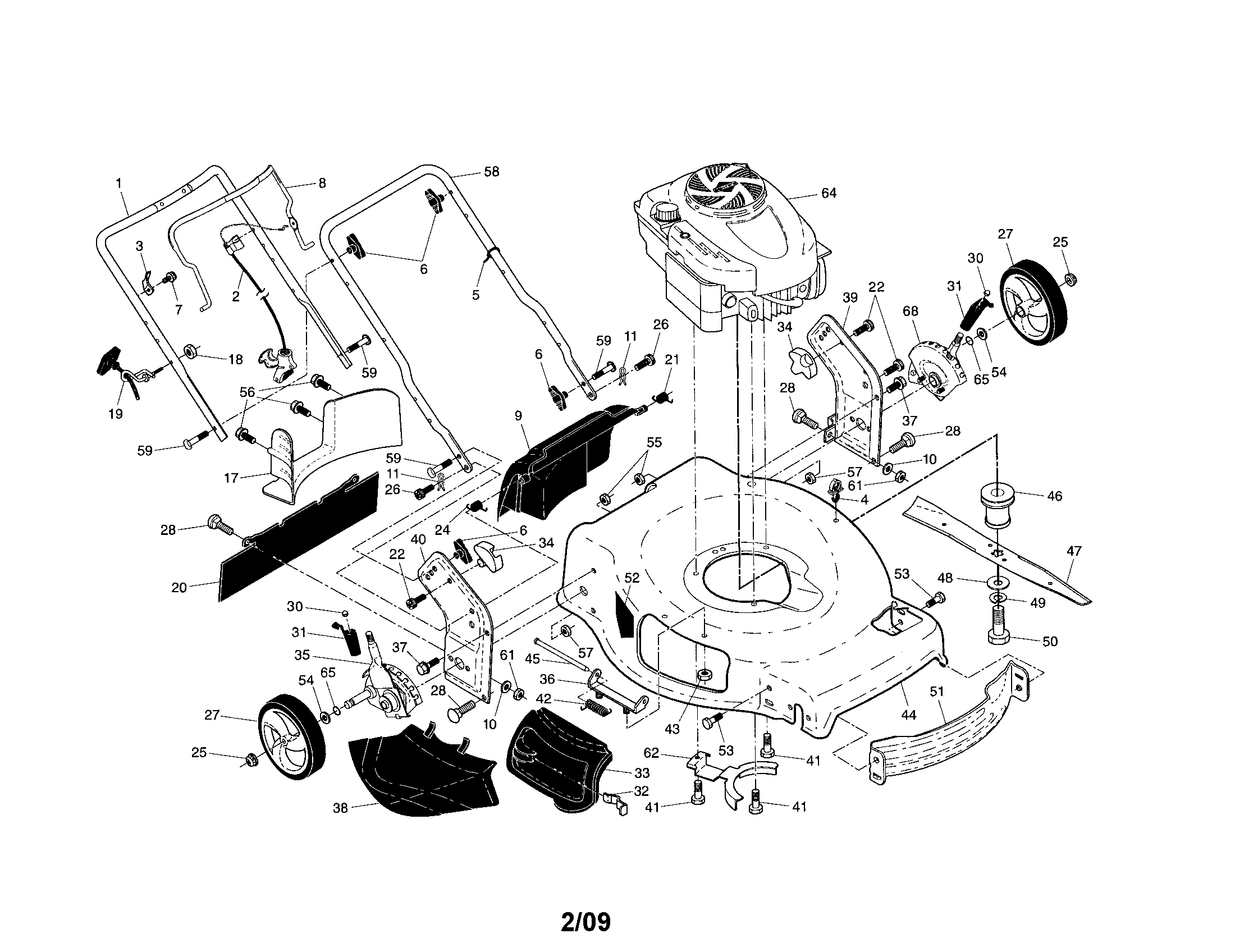 Craftsman Push Lawn Mower Parts : Briggs and stratton lawn mower parts diagram automotive