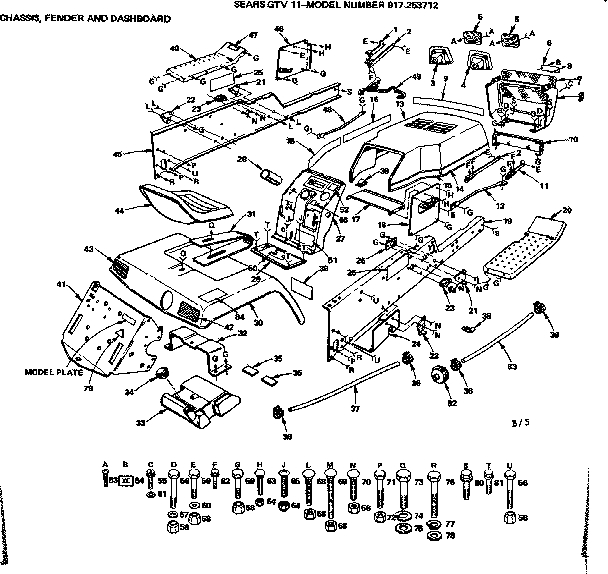 Craftsman Lawn Tractor Parts | Model 917253712 | Sears Partsdirect pertaining to Craftsman Lawn Tractor Parts Diagram