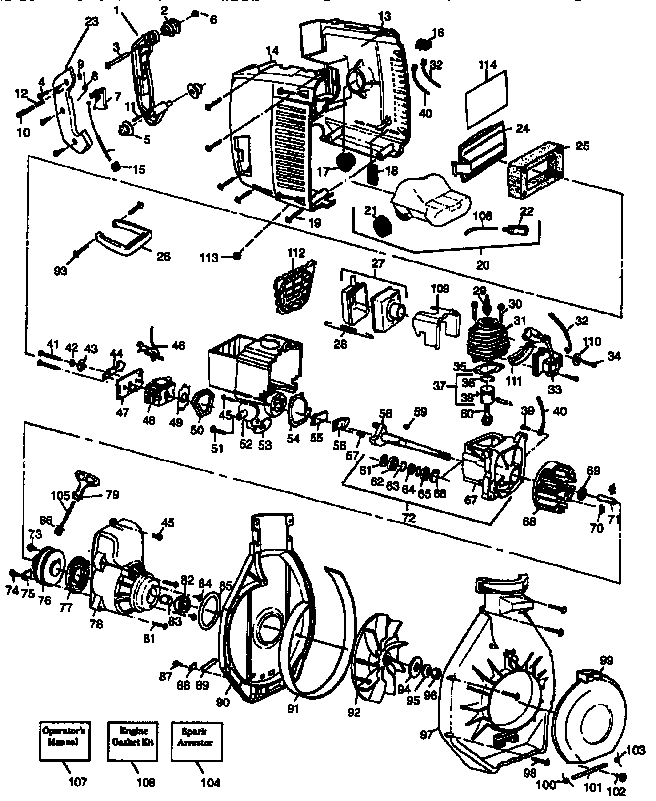 Craftsman Leaf Blower Parts | Model 358797923 | Sears Partsdirect inside Craftsman Leaf Blower Parts Diagram