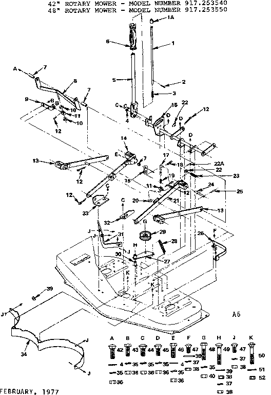 Craftsman Mower Deck Parts | Model 917253540 | Sears Partsdirect intended for Craftsman Mower Deck Parts Diagram