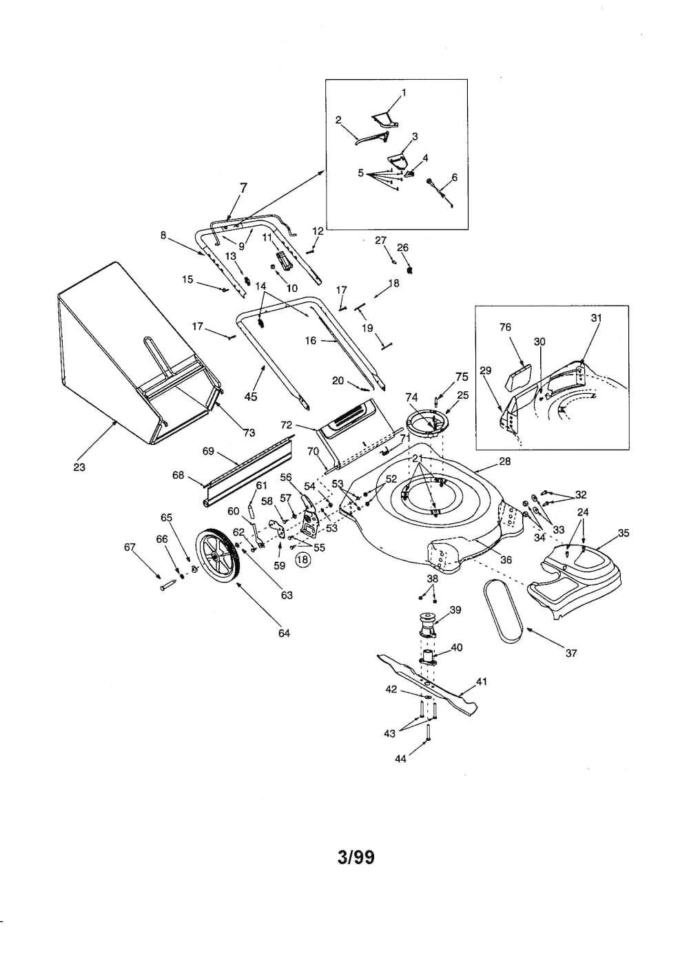 Craftsman Self-Propelled Mower Parts | Model 247375590 | Sears throughout Craftsman Self Propelled Lawn Mower Parts Diagram