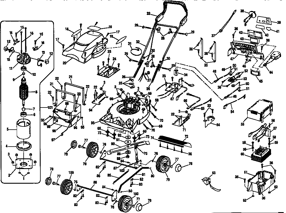 craftsman mower deck parts diagram