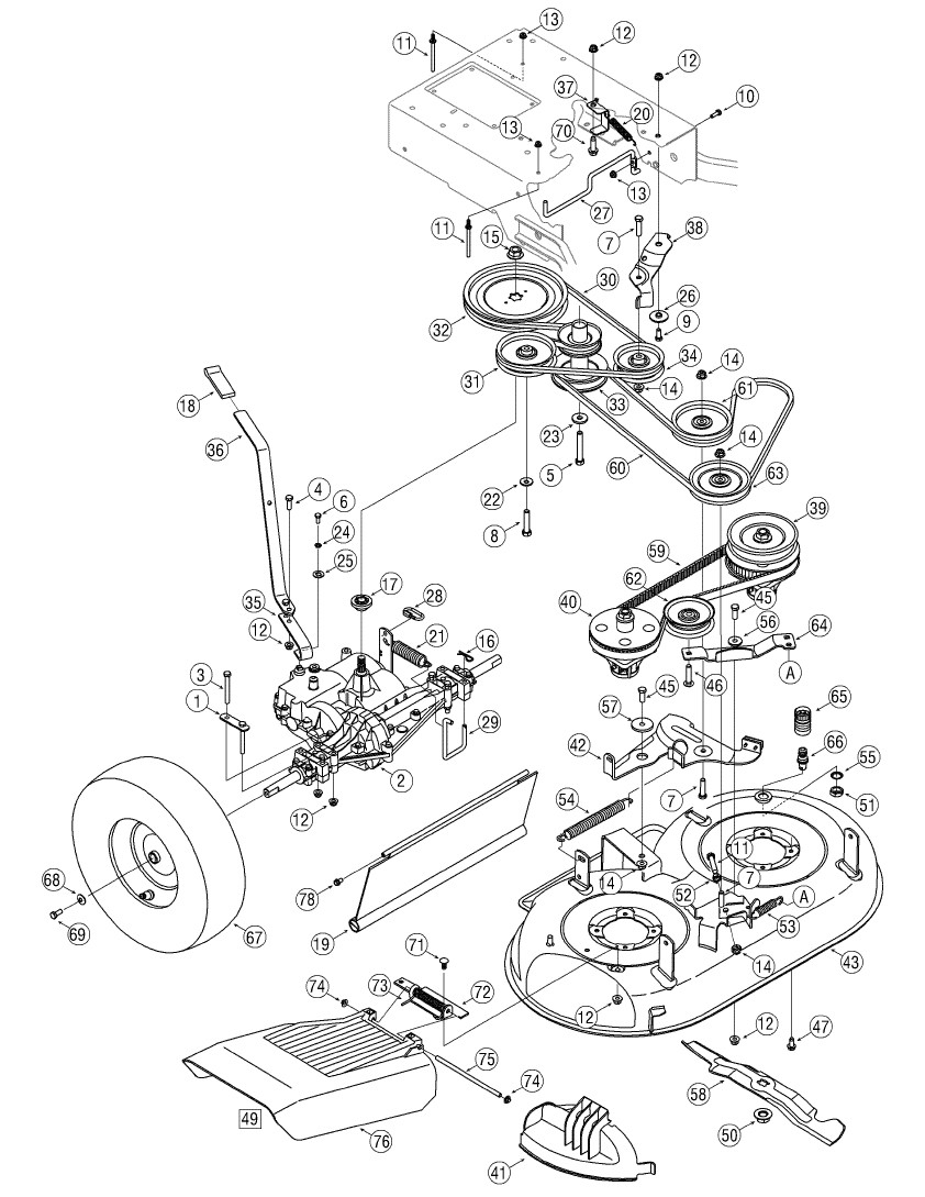 Cub Cadet 33 Walk Behind Moderl Cc760Es. How Do I Tighten with regard to Cub Cadet Mower Deck Parts Diagram