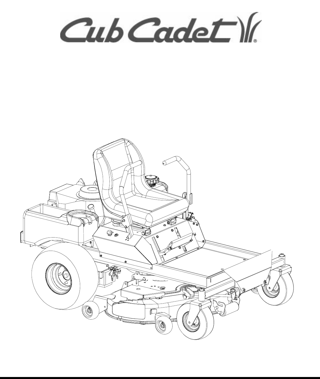 Cub Cadet Lawn Mower 20Hp Z-Force 44 User Guide | Manualsonline regarding Cub Cadet Zero Turn Parts Diagram
