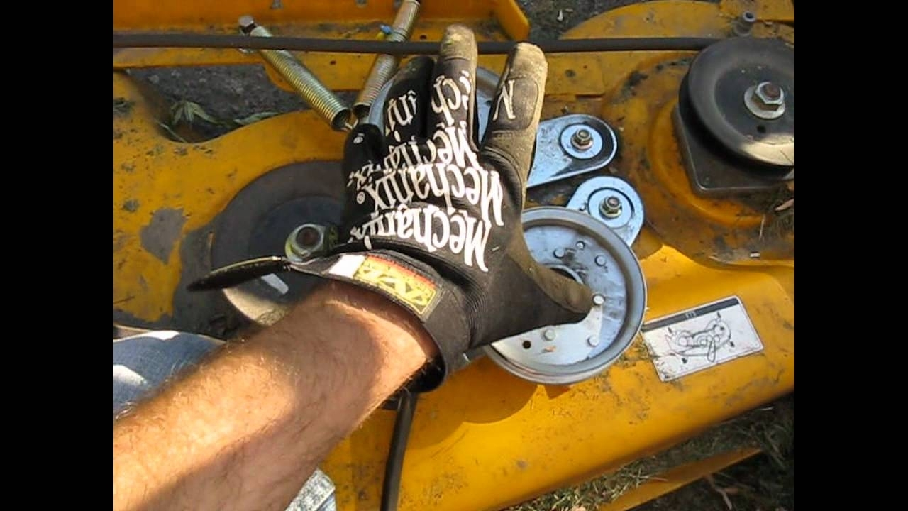 Cub Cadet Mower Belt (Coming Off) Deck Fix Lt 1045 Part 1 - Youtube within Cub Cadet Mower Deck Parts Diagram