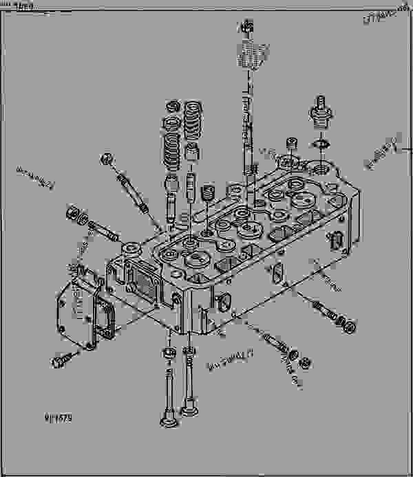 Cylinder Head [A20] - Tractor, Compact Utility John Deere 1050 pertaining to John Deere 1050 Parts Diagram
