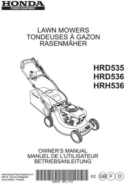 Defender2 - View Topic - Honda Mower Workshop Manual for Honda Hrd 535 Parts Diagram