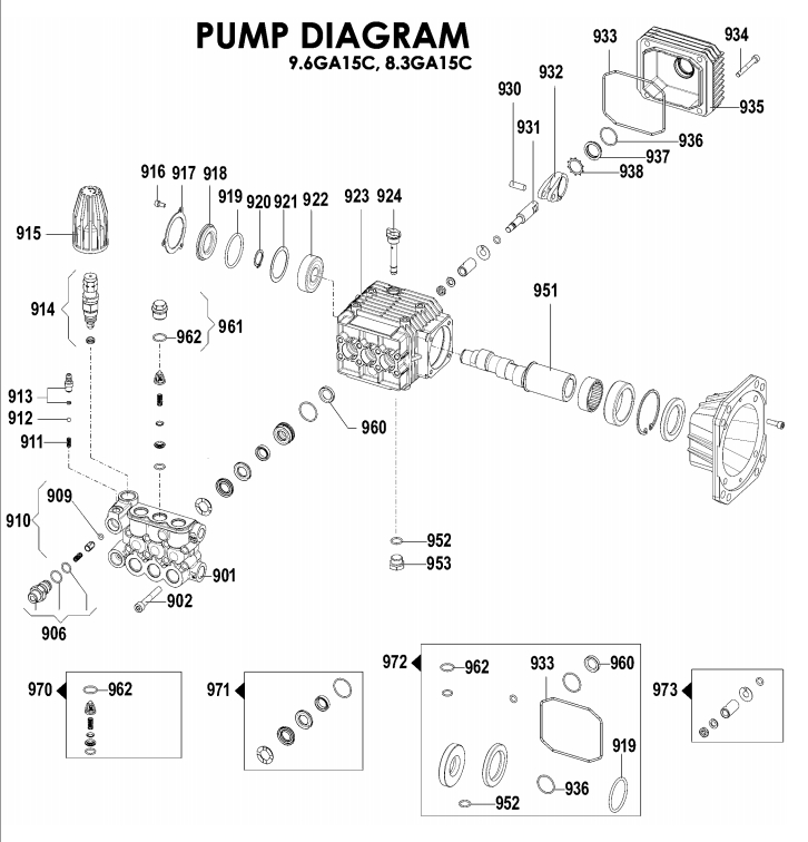 Dewalt Parts 5140122-10 Pump Pressure Washer Pump pertaining to Pressure Washer Pump Parts Diagram