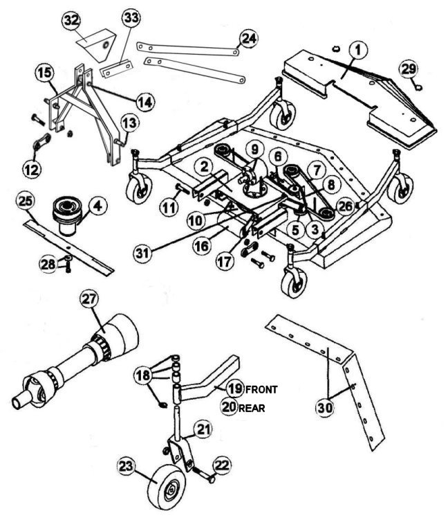 Replacement Bush Hog Tiller Parts : King kutter tiller parts diagram automotive