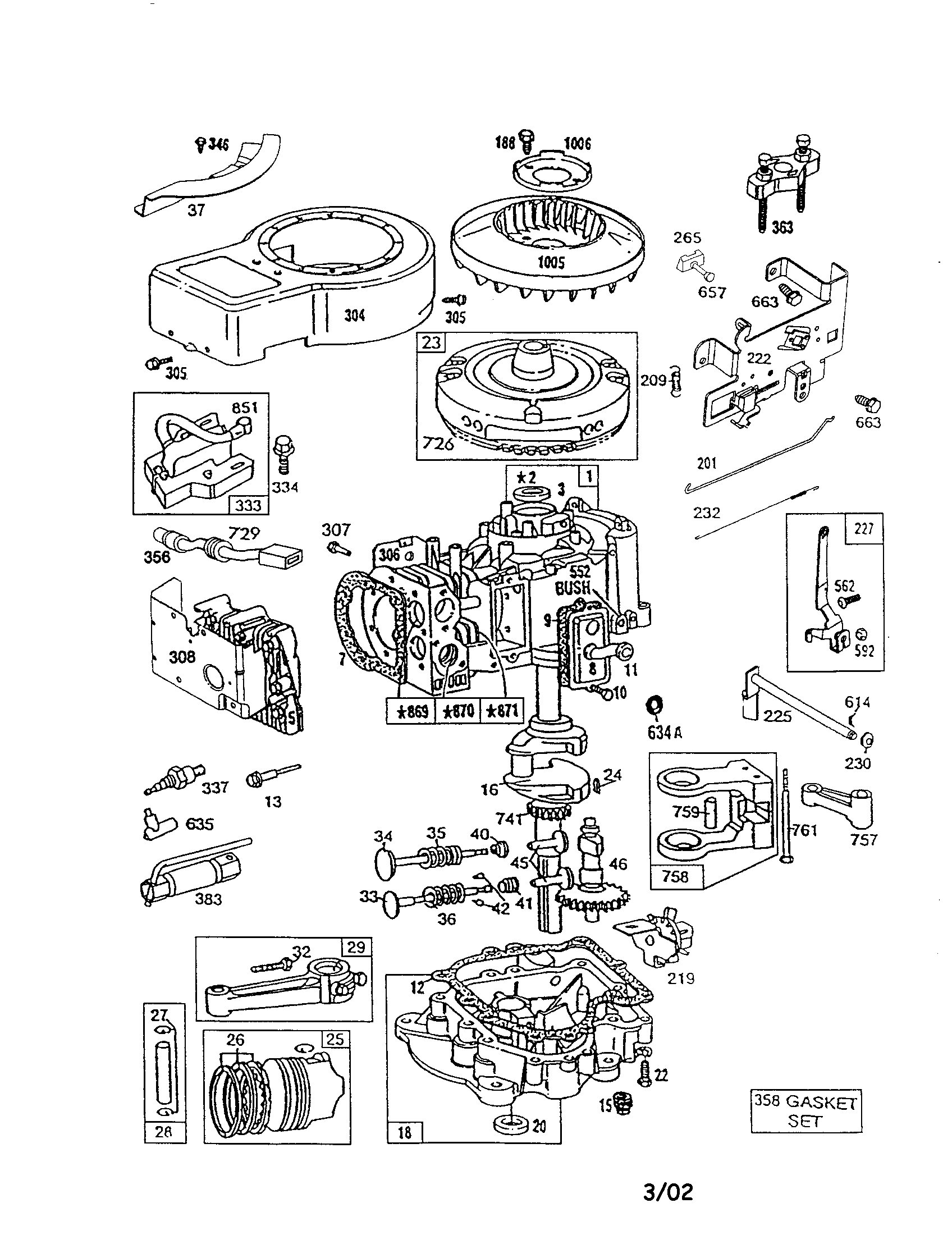 Diagram: Briggs And Stratton Parts Diagram pertaining to Briggs And Stratton 550Ex Parts Diagram