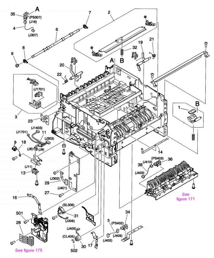 Diagrams And Parts Lists - Hp Laserjet 5100 5100Tn 5100Dtn 5100Le inside Hp Officejet 4500 Parts Diagram