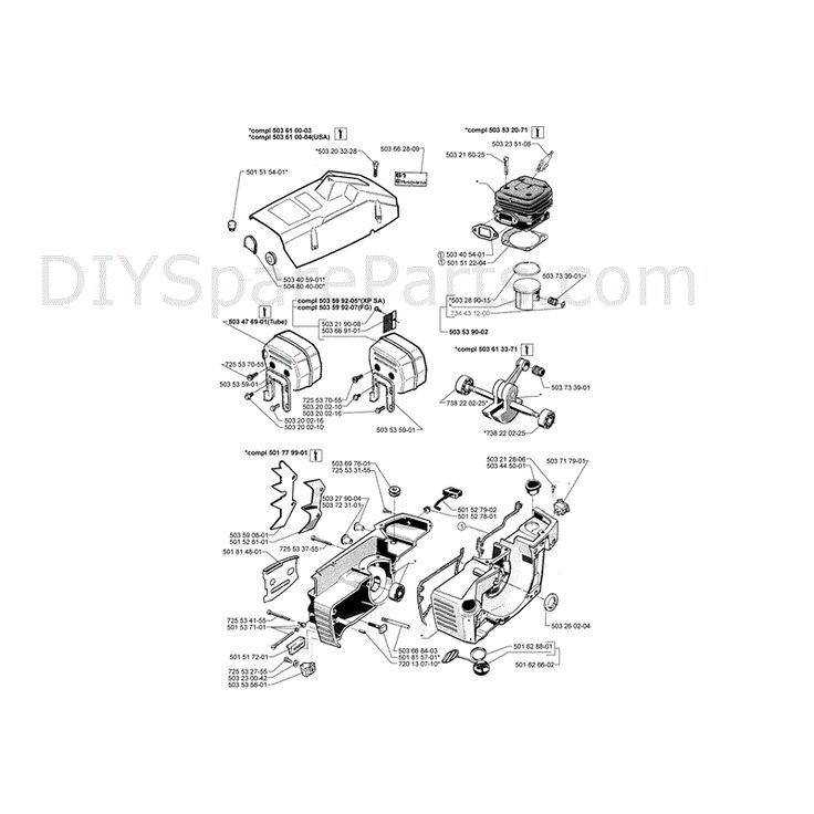 Diagrams Of Chainsaws | Husqvarna 61 Chainsaw (1997) Parts Diagram within Stihl Ms 391 Parts Diagram