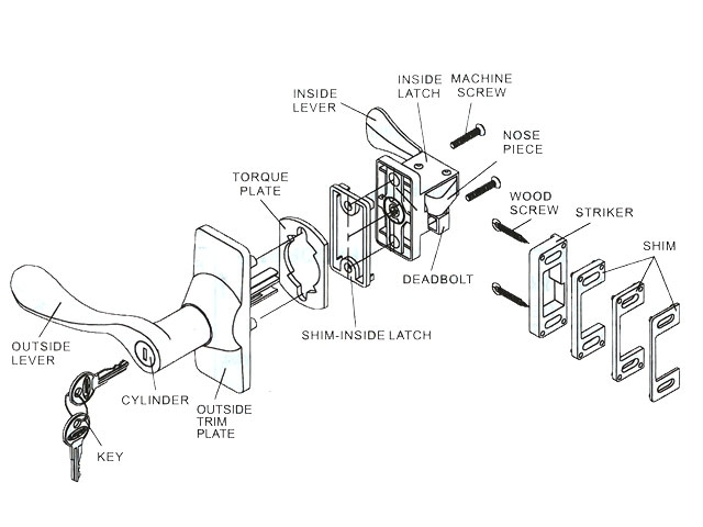 Diagram Of Door Knob Parts Automotive Parts Diagram Images