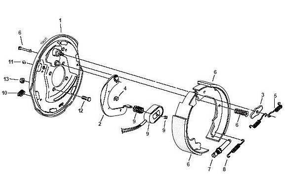 Electric Trailer Brake Parts Diagram regarding Electric Trailer Brake Parts Diagram
