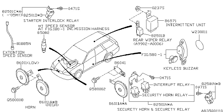 Electrical Parts - Body For 2001 Subaru Outback | Subaru Parts Deal intended for 2001 Subaru Outback Parts Diagram