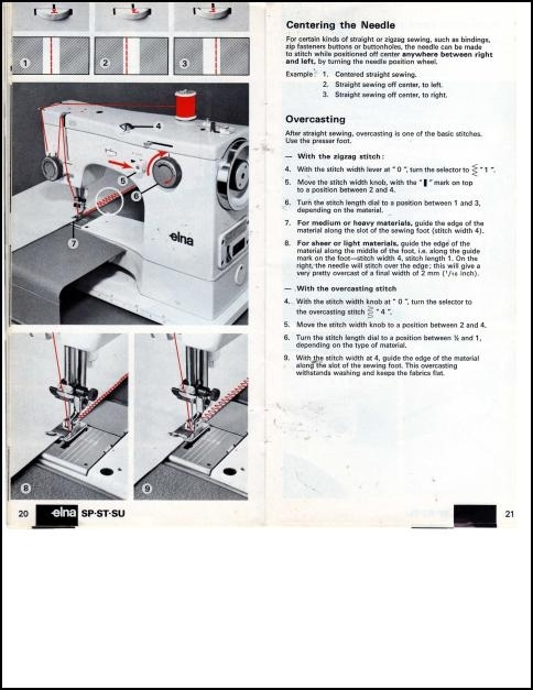 Elna Sp St Su Sewing Machine Instruction Manual - Houston Misc For regarding Elna Sewing Machine Parts Diagram