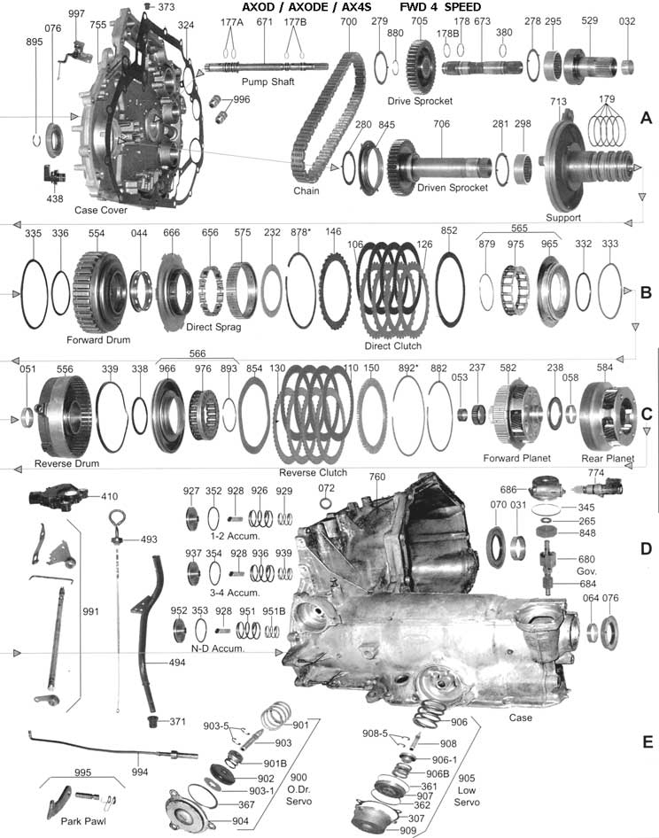 Everything You Need To Know About The Ford Cd4E Transmission in 2002 Ford Escape Parts Diagram