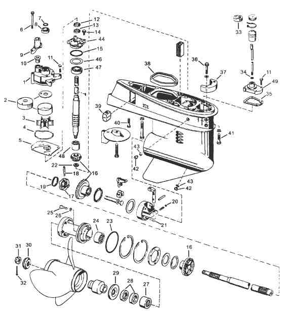 Evinrude Johnson Outboard Parts Drawings Within Johnson