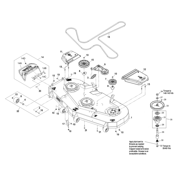 Exmark Lazer Z Advantage Series Parts within Exmark Lazer Z Parts Diagram