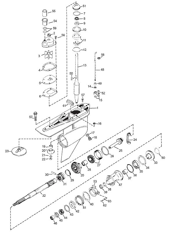 Exploded View - Alpha One Gen Ii - Marine Parts House throughout Alpha One Outdrive Parts Diagram