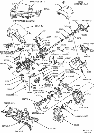 ford taurus steering column diagram ford econoline steering column diagram