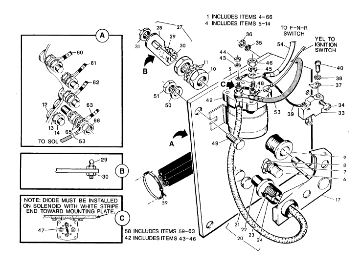 ezgo golf cart parts diagram