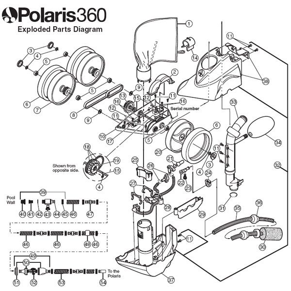 polaris pool cleaner parts diagram