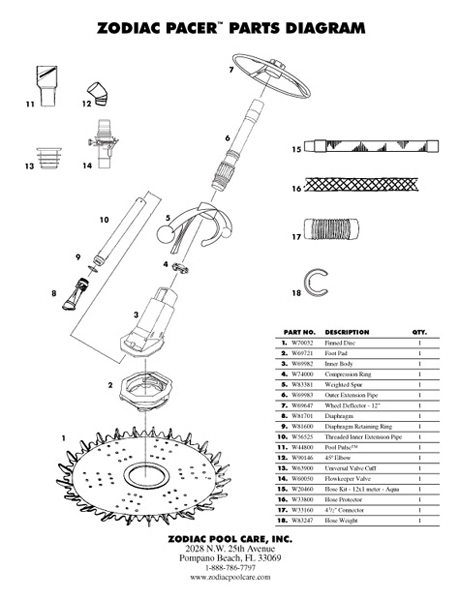 F2 - Baracuda Pacer Parts Diagram - Baracuda Pacer - Automatic pertaining to Baracuda Pool Cleaner Parts Diagram