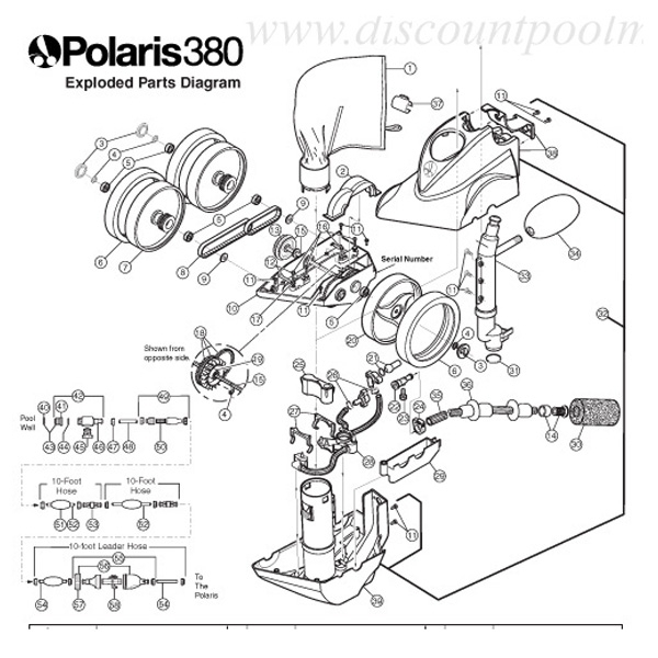 F3 - Polaris 380 Automatic Pool Cleaner Diagram F3 - Polaris 380 regarding Polaris Pool Cleaner Parts Diagram