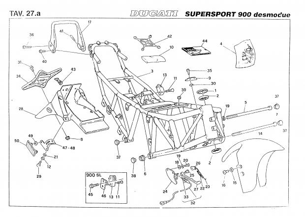 Factory Parts Diagram? Rear Seat Area For '98 Fe? - Ducati.ms in Harley Davidson Motorcycle Parts Diagram