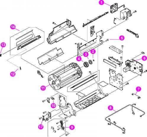 Figure 82 Assembly Location Diagram 2 Of - Hp Laserjet 4550 4500 Color for Hp Officejet 4500 Parts Diagram