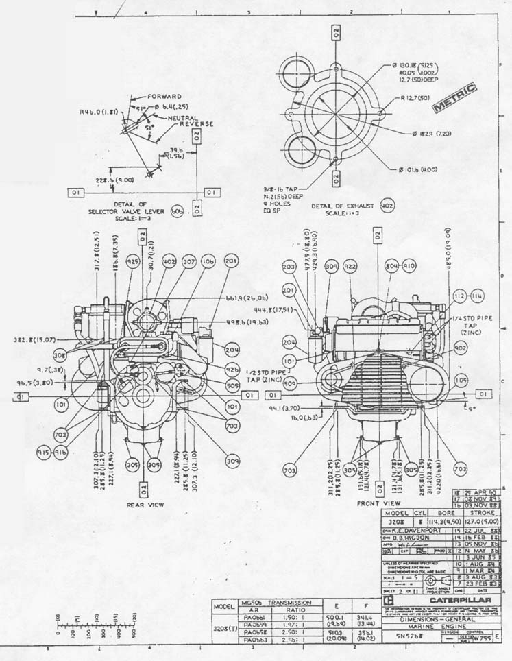 caterpillar 3406 parts diagram