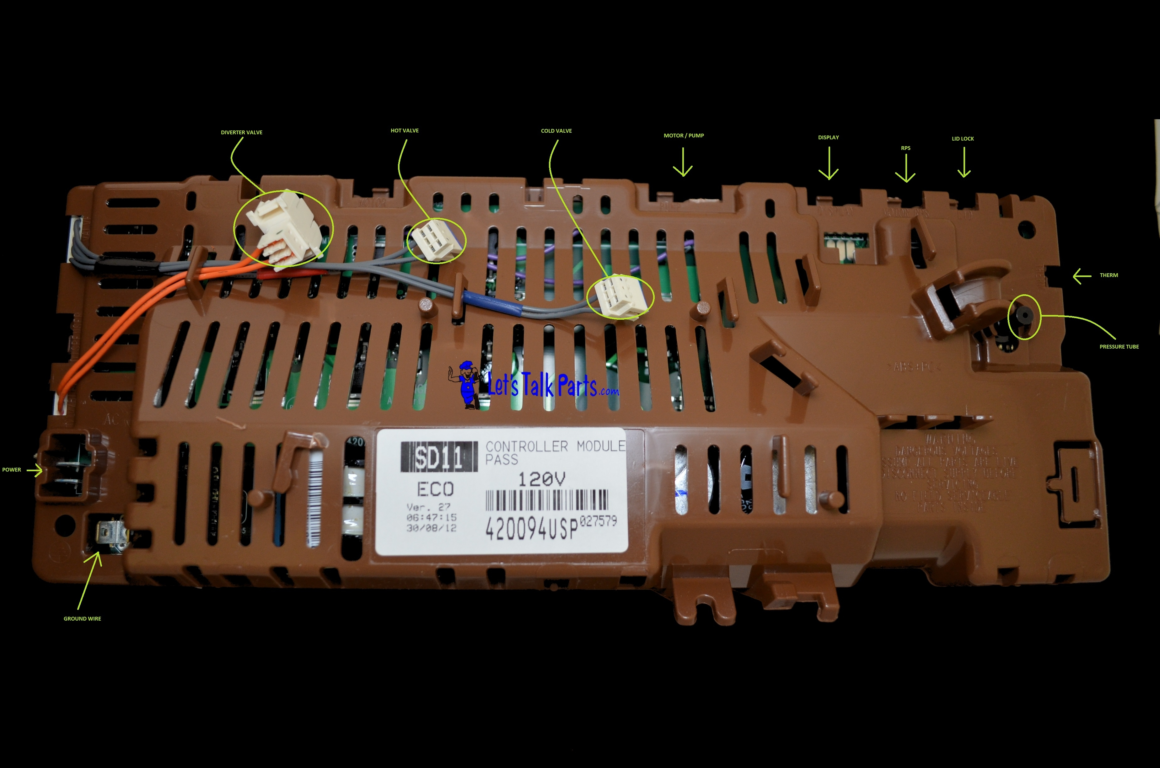 Fisher & Paykel Controller 420094Usp for Fisher Paykel Washing Machine Parts Diagram