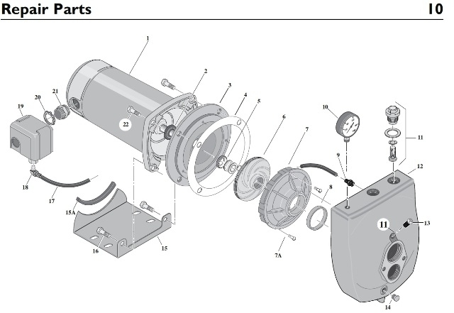 Florida Pump Service. Sta-Rite Sle Deep Well Jet Pump throughout Sta Rite Pump Parts Diagram
