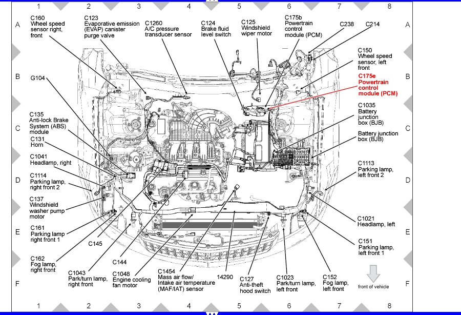 2012 Ford Focus Engine Diagram on 2005 Ford Taurus Fuse Box Layout