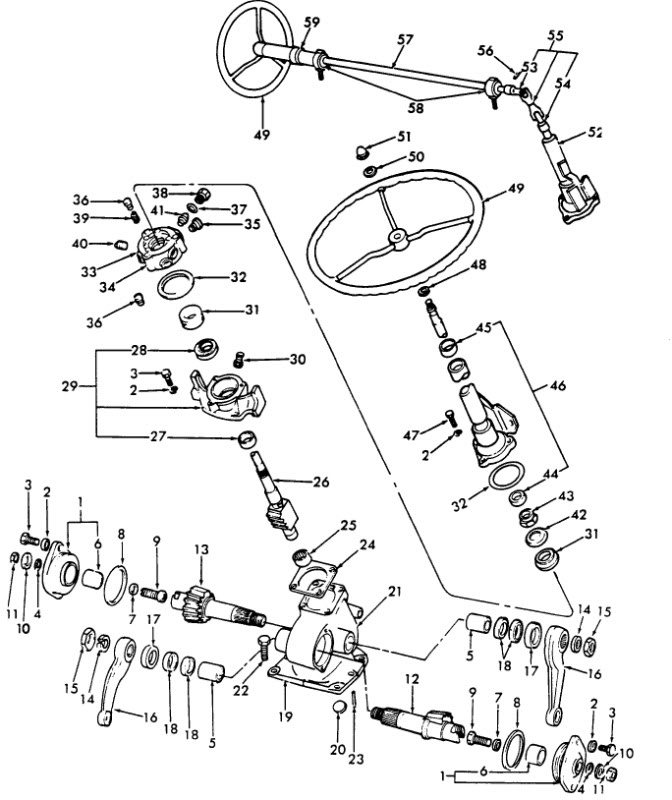 ford 3000 power steering schematic