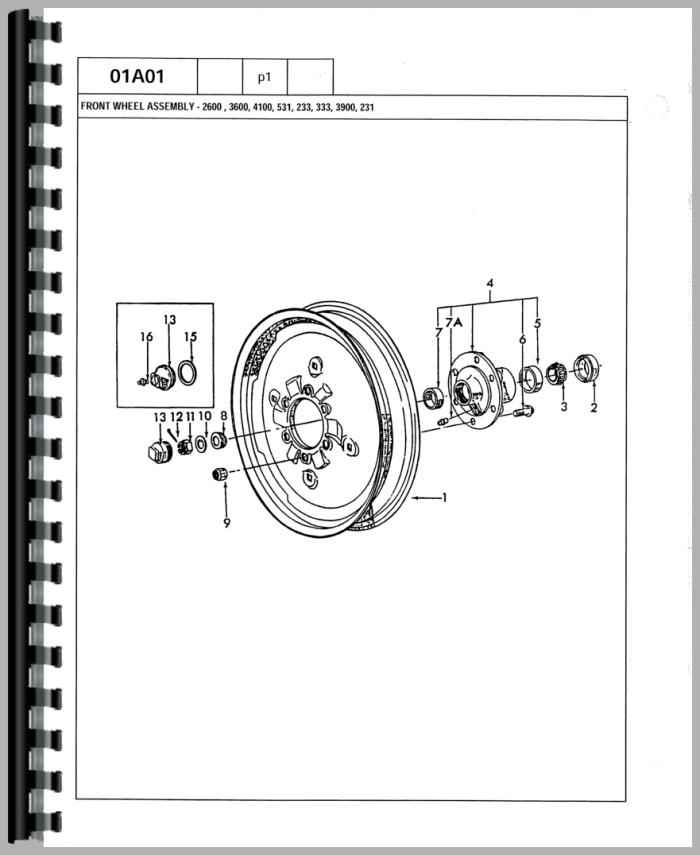 Ford 3600 Tractor Parts Manual for Ford 3600 Tractor Parts Diagram