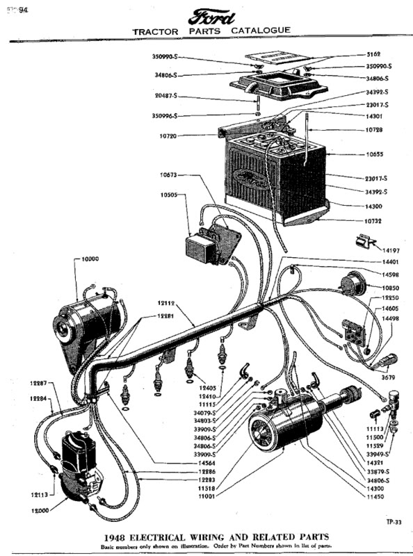 Ford 8n light wiring diagram