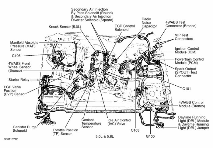 Ford F150 Engine Diagram 1989 | 1994 Ford F150 Xlt 5.0 (302Cid in 1994 Ford F150 Parts Diagram