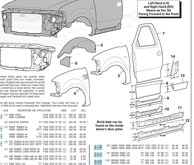 Ford Parts Schematic - Ford Parts Diagram Wiring Diagram And Fuse for 2001 Ford F150 Parts Diagram