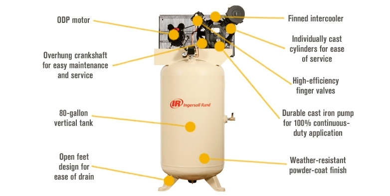 Free Shipping — Ingersoll Rand Type-30 Reciprocating Air intended for Ingersoll Rand Compressor Parts Diagram