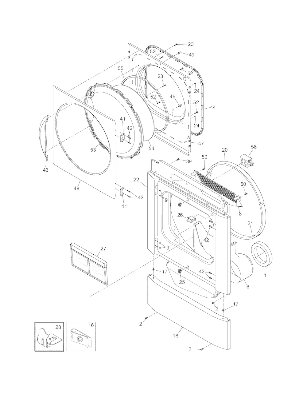 Frigidaire Dryer Parts | Model Gceq2152Es0 | Sears Partsdirect regarding Kenmore 80 Series Dryer Parts Diagram