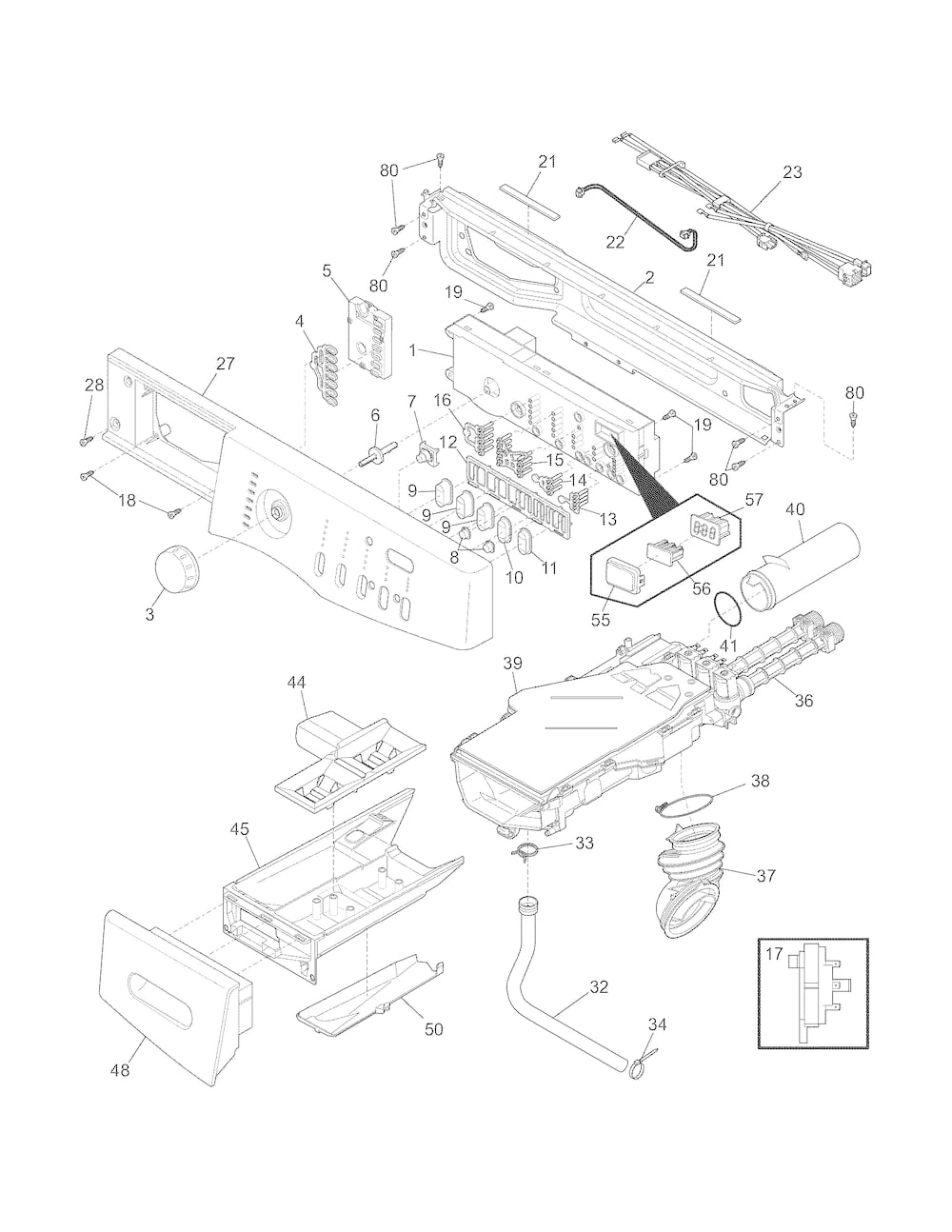 Frigidaire Front Load Washer Parts | Model Fafw3574Kn0 | Sears within Frigidaire Front Load Washer Parts Diagram