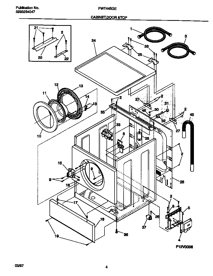 Ge Front Load Washer Parts Diagram Automotive Parts