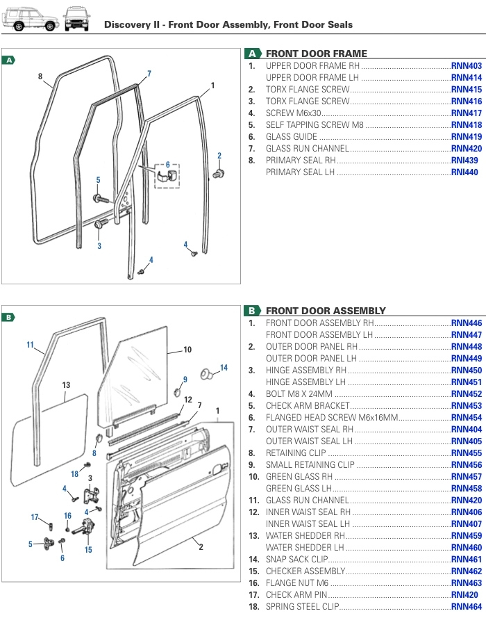 Front Door Assembly For Discovery Ii - Rovers North - Classic Land pertaining to Land Rover Discovery Parts Diagram
