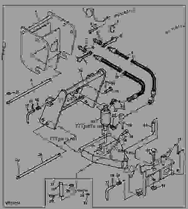 Front Hitch Kit (4010, 4110, 4115, 4100) [D23] - Broom, Rotary with regard to John Deere 2210 Parts Diagram
